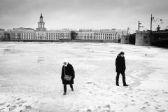 La Neva St Petersbourg. Février 2019
