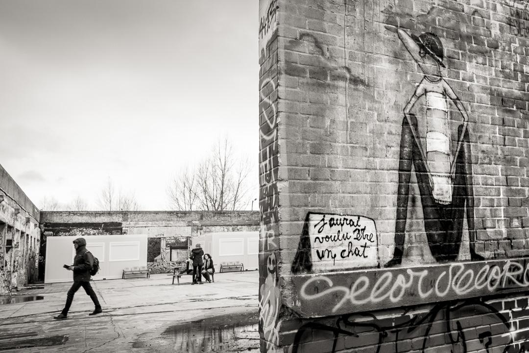 Espace Darwin. Graffiti de Selor