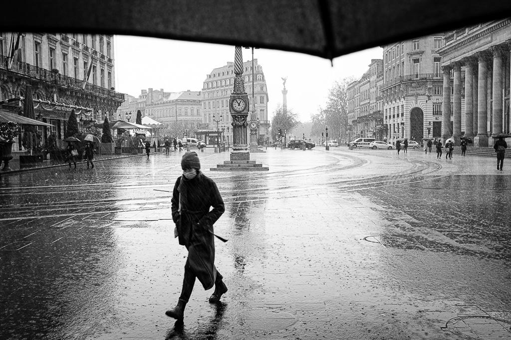 Grosse pluie sur Bordeaux et déclenchement par réflexe
