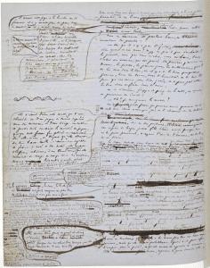 Manuscrit des misérables Victor Hugo