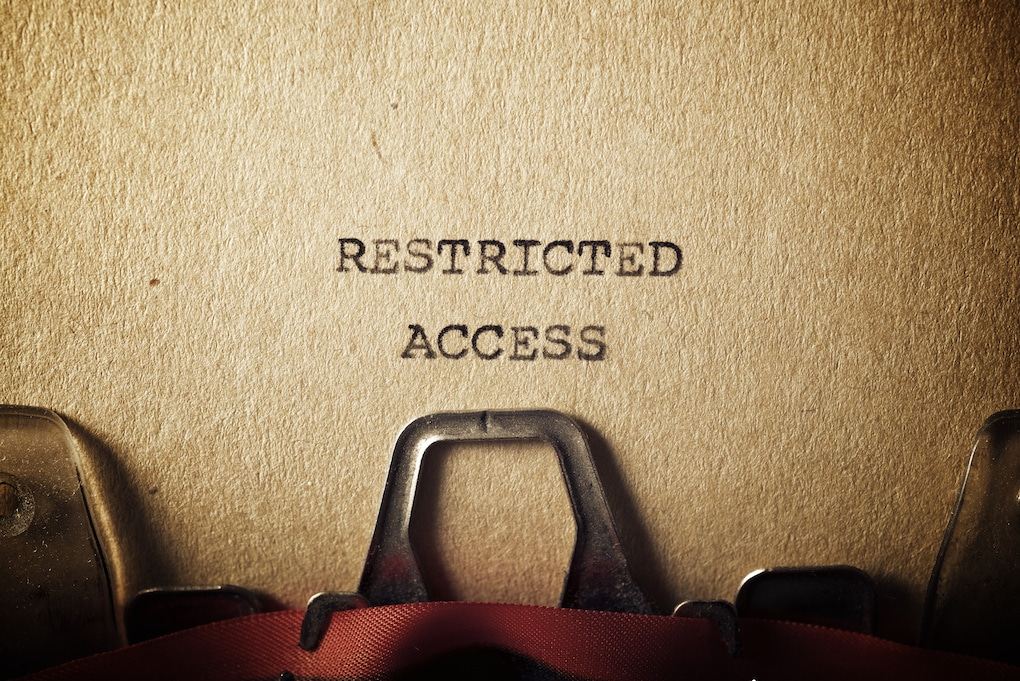 Restricted access text