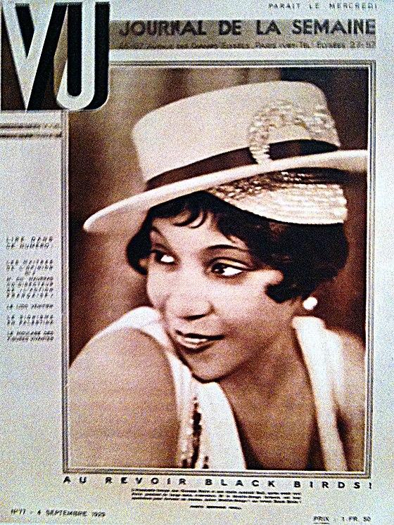 La une du nouveau magazine VU en 1929. La photo prend une place primordiale.