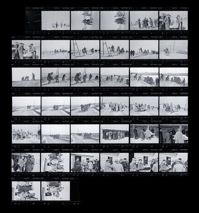 Planche Contact Robert Capa Valise Mexicaine