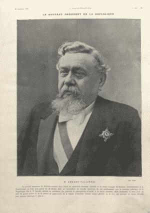 Une des premières photos publiées par la presse. Président de la République élus Armand Fallières
