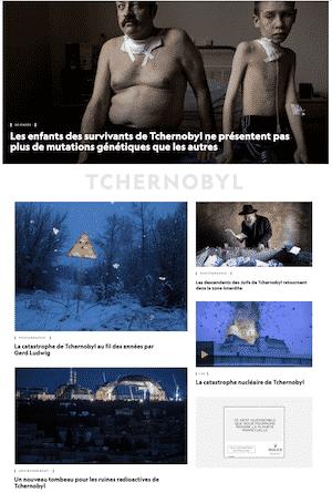 National Geographic : traitement intérieur du sujet sur Tchernobyl