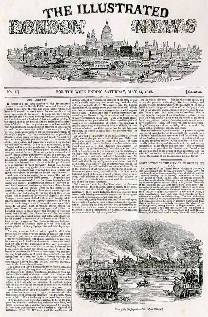 Exemple de publication avant l'arrivée de la photographie : The Illustred London News