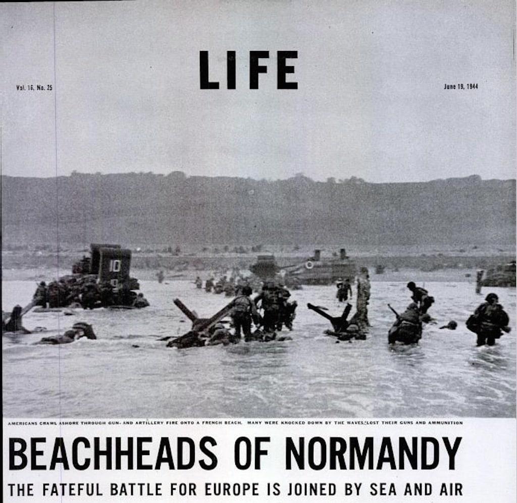 Life, le débarquement et les photos de Robert Capa