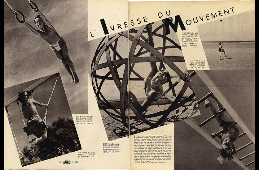 Magazine VU. Traitement très moderne de la double page.